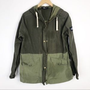The North Face Two Tone Army Green Utility Jacket